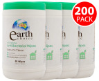 4x Earth Choice Anti-Bacterial All Purpose Wipes 50pk 1