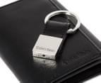 Calvin Klein Trifold Wallet & Key Fob - Black 3