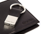 Calvin Klein Matte Billfold Wallet & Key Fob - Brown 3