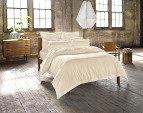Sheridan Millswyn Tailored Queen Quilt Cover Set - Flax 3