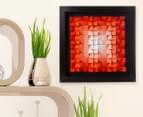 3D Wall Art 40 x 40cm - Orange 1