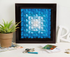 3D Wall Art 40 x 40cm - Blue 4