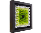 3D  Wall Art 40 x 40cm - Green/White 2