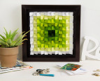 3D  Wall Art 40 x 40cm - Green/White 4