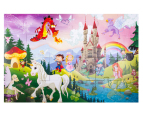 24 Piece Floor Puzzle & Book - Fantasy Land 3