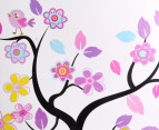 Owls Swinging in Blooming Tree Wall Decal/Sticker 3