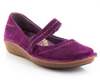 Hush Puppies Women's Lax Flat - Plum 1