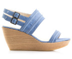 Hush Puppies Women's Ritual Wedge Sandal - Blue 2