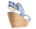 Hush Puppies Women's Ritual Wedge Sandal - Blue 3