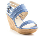 Hush Puppies Women's Ritual Wedge Sandal - Blue 4