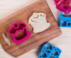 Lunch Punch Set of Four Sweet Sandwich Cutters - Pink/Blue 3