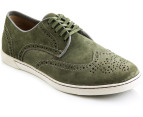 Hush Puppies Men's Carver Shoes - Green Suede 4