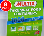 Multix Takeaway Food Containers 8pk 2