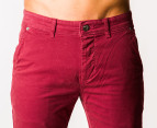 Riders by Lee Men's R2 Slim & Narrow Chino - Burnt Red 3