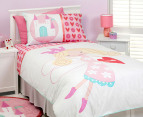 Love Heart Fairy Organic  Single Quilt Set 3