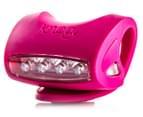 Knog Skink Red LED Rear Bike Light - Pink 4