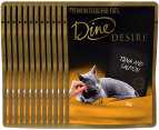 12x Dine Desire Tuna & Salmon For Cats 85g 3