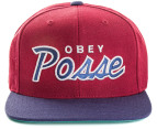 OBEY Men's Posse Snapback Cap - Maroon/Navy 1