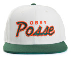 OBEY Men's Posse Snapback Cap - Natural/Dark Green 1