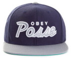 OBEY Men's Posse Snapback Cap - Navy/Grey 4