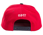 OBEY Staple Men's Snapback - Burgundy/Black 3