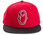 OBEY Staple Men's Snapback - Burgundy/Black 4