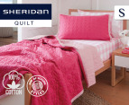 Sheridan Junior Nicoll Single Bed Cover - Fuchsia 1