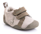 Clarks Toddler Boy's Saurus Boy Shoes- Khaki Leather 4