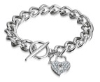 Mestige Crystal Love Locked Down Bracelet 2