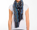 Missoni Women's 190cm Curtain Chenille Scarf - Teal 1