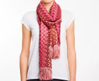 Missoni Women's 184cm Narrow Zig-Zag Scarf - Rose 1