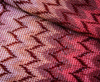 Missoni Women's 184cm Narrow Zig-Zag Scarf - Rose 2