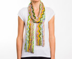 Missoni Women's 200cm Wide Zig-Zag Scarf - Green 1