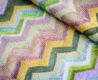 Missoni Women's 200cm Wide Zig-Zag Scarf - Green 2