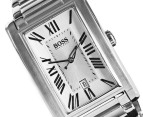 Hugo Boss Men's Rectangle S/Steel Watch - Silver 2