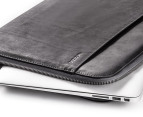 "Incase 13"" Leather Macbook Pro Sleeve - Black/Grey 4"