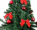 Artificial 1.8m Olive Green Christmas Tree & Ornament Pack  2