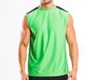 Reebok Men's Sleeveless Top - Green 1