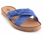 Hush Puppies Women's Attention Sandals - Blue Suede 4