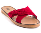 Hush Puppies Women's Attention Sandals - Red Suede 1
