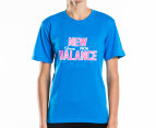 New Balance Women's Crest Tee - Blue 1