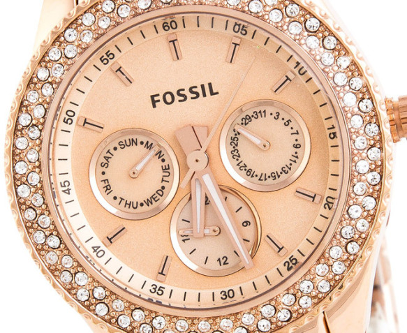 fossil women 39 s stella watch rose gold 2. Black Bedroom Furniture Sets. Home Design Ideas