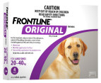 3 x Frontline Original Large Dog 20-40kg 4