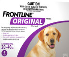 3 x Frontline Original Large Dog 20-40kg 3