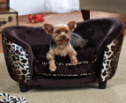Enchanted Home Plush Pet Snuggle Bed For Small Dogs - Leopard 3