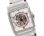 Bulova Men's Rectangle Automatic Watch - Silver-Tone 2