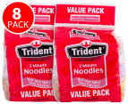 2x Trident 2 Min Noodles Hot & Spicy Thai Flavour 4pk 85g 1