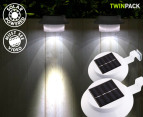 3-LED Portable Outdoor/Indoor Solar Light 2-Pack