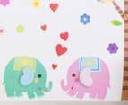 Elephant & Trees Wall Decal/Sticker 3