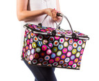 Easy Insulated Collapsible Shopping Carrier - Retro 3